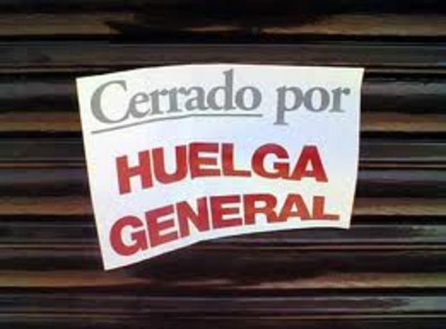 Desarrollo de huelgas en la ciudad de Barranquilla y Cartagena.