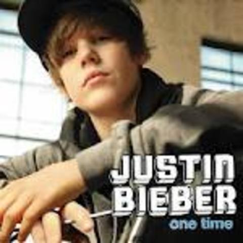 Justin Biebers first song One Time was released
