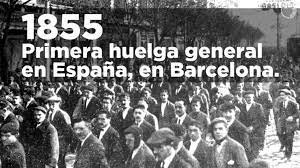 Primera huelga general española.
