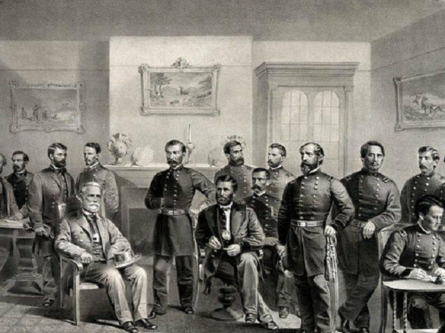 The Treaty at Appomattox Court House