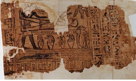 Los egipcios descubren el papiro y tinta para escribir