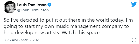 announces his own record