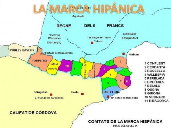 Carlomagno establece la Marca Hispánica