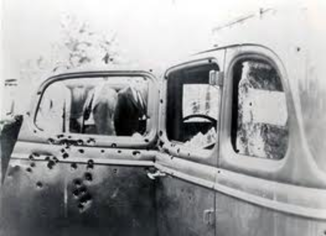 Bonnie and Clyde Killed by Police