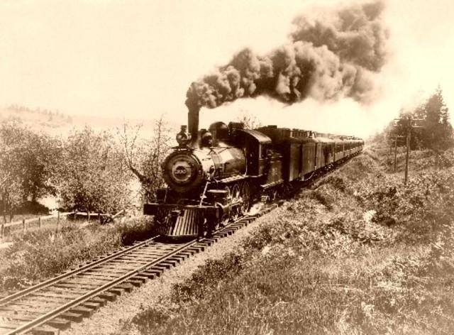 The Santa Fe Railroad inaugurates the all-Pullman Super Chief passenger train service between Chicago, Illinois and Los Angeles, California