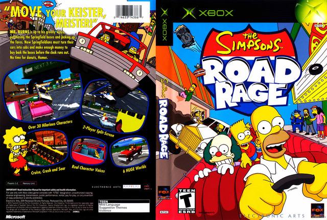 road rage simpsons