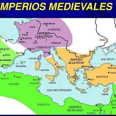 Eje cronológico: Imperios medievales.  timeline