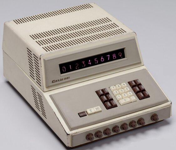 Primer prototipo de las calculadoras Casio