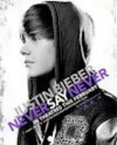 Justin Biebers Never Say Never movie is released.
