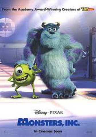 """The release of the film """"Monsters Inc."""""""