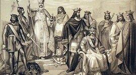 La monarchie Franque sous la dynastie Carolingienne timeline