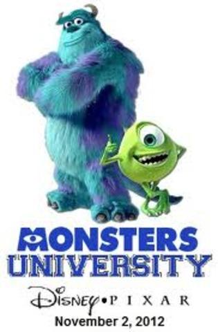 "Hopefully the release of the film ""Monsters University"""