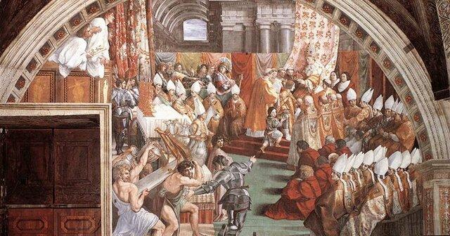 Coronació de Carlemany pel Papa de Roma (opcional)