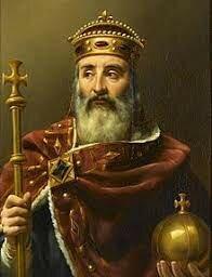 La coronación de Carlo Magno.