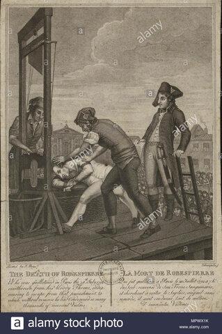 Ejecucion de Robespierre