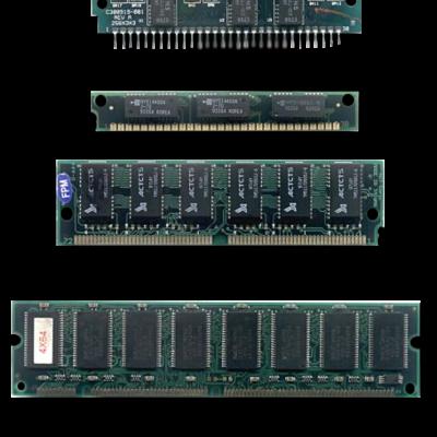 Evolución de la memoria RAM timeline