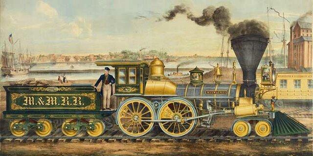 Locomotora de Vapor ( Edad Moderna )