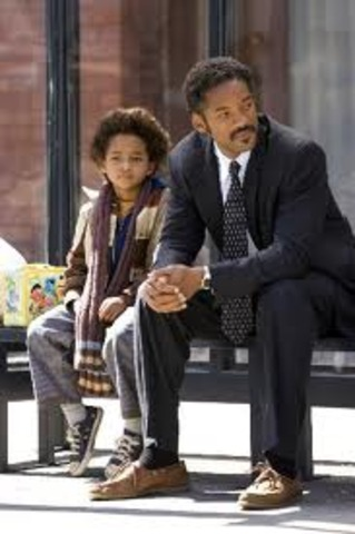 Will Smith stars in The Pursuit of Happiness along with his 11 year old son Jaden Smith