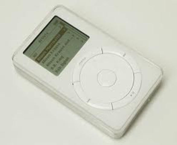 The release of the first ipod by apple