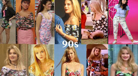 Fashion in the 90's timeline