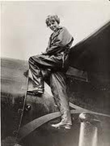 Amelia Earheart Flies her Transatlantic Fight to Newfoundland