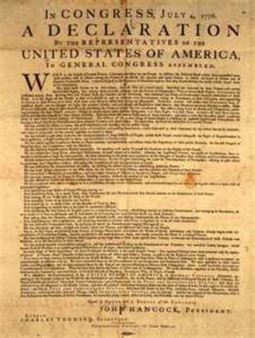 Thomas Jefferson borrow's from Locke's ideas to write the Declaration of Independence