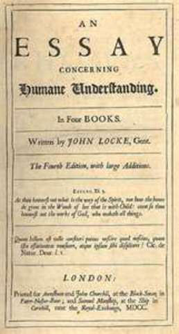 Locke writes his first draft on the Essay Concerning Human Understanding