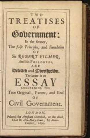 Two Treatises of Civil Government by John Locke is published