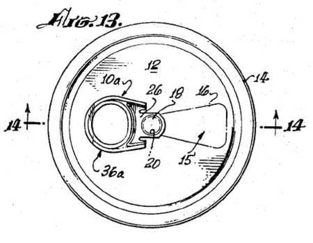 1963 Obtained First Patent for a Pull-Tab Can