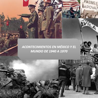acontecimientos en México y el mundo de 1940 a 1970 timeline