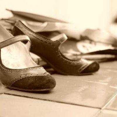Evolución del calzado timeline