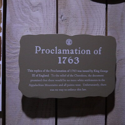 The Proclamation of 1763 timeline