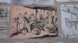Наброски и зарисовки известных художников эпохи возрождения. timeline