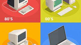 Cambio y caracteristicas de la evolución de las computadoras timeline