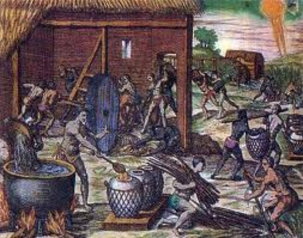 El trabajo en América hispánica.Los repartimientos