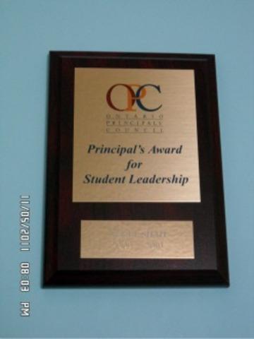 Grade 5 Graduation and When I got my Principal's Choice Award