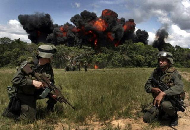 Fuerzas militares de colombia bombardean el frente 48 de las farc