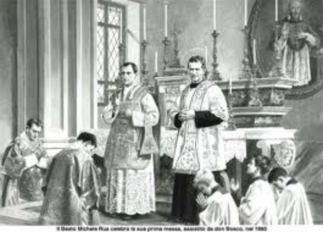 Michael Rua was ordained a priest