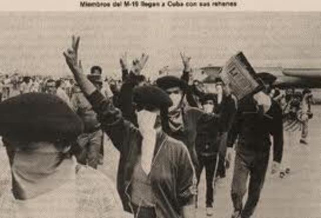 EL M-19 REALIZA TOMA A LA EMBAJADA DE LA REPUBLICA DOMINICANA