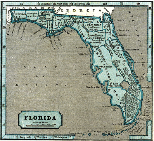 Florida Becomes Part of the U.S.A