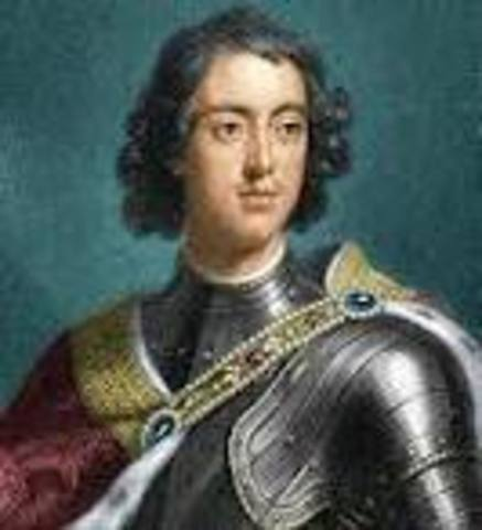 Peter the Great becomes czar