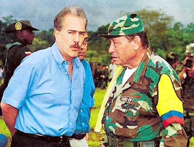 Negociacion con el presidente Pastrana