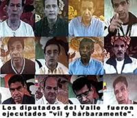 murieron once de los doce diputados del Valle