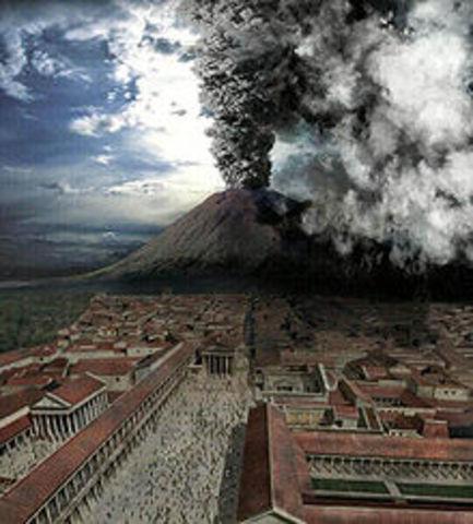 Pompeii Destroyed 79 AD