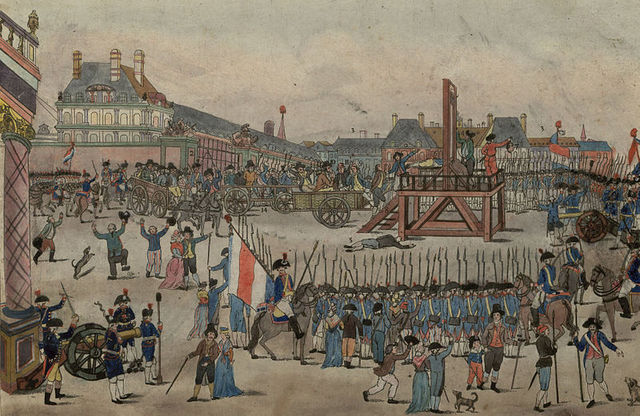 Robespierre and his followers guillotined