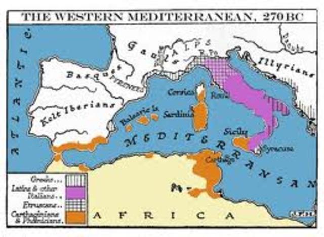 The Punic Wars began 264 BCE