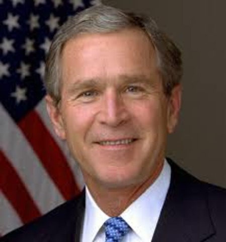 George Bush is elected president