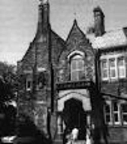 John Lennon enters Quarry Bank High School