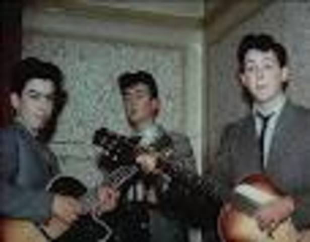 """John Lennon forms The Quarry Men and the band performs what's known in England as """"skiffle"""""""