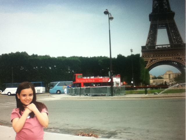Gaby pela primeira vez em Paris